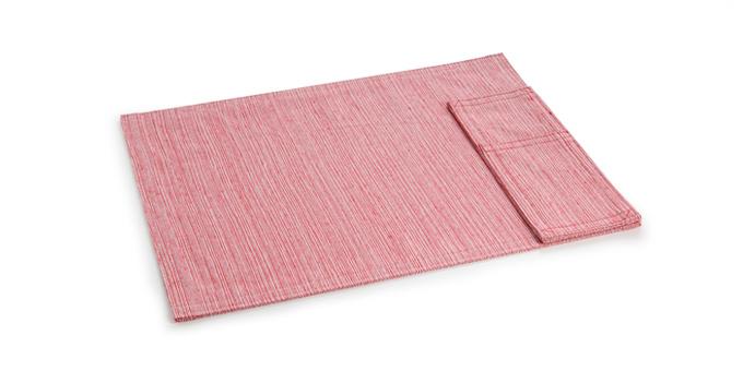 Platzset mit Bestecktasche FLAIR Lounge, aus Stoff, 45 x 32 cm