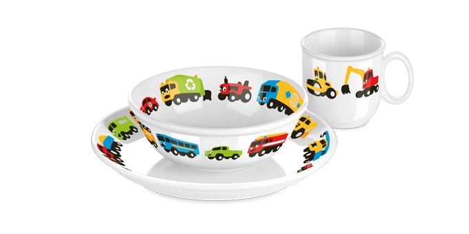 TESCOMA jídelní souprava BAMBINI, autíčka, 3 ks