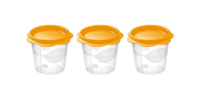 TESCOMA dóza na dětské pokrmy BAMBINI 150 ml, 3 ks, oranžová