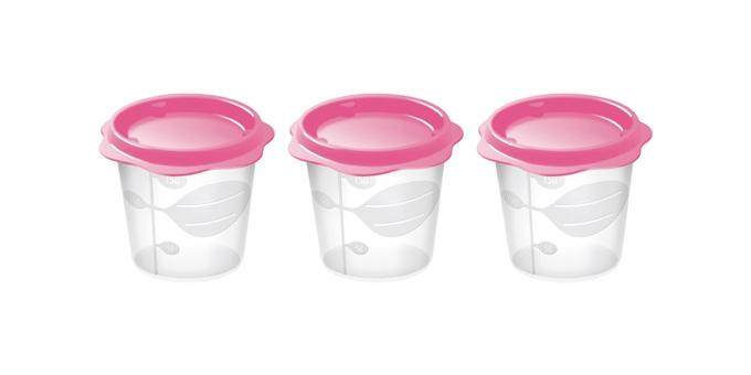 TESCOMA dóza na dětské pokrmy BAMBINI 150 ml, 3 ks, růžová