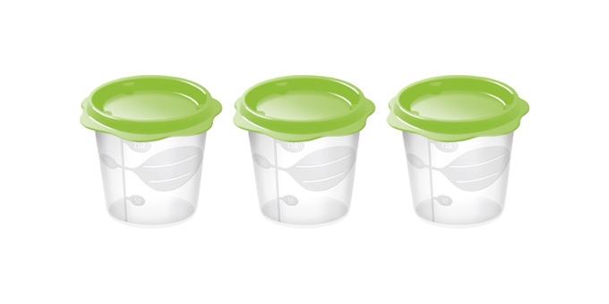 TESCOMA dóza na dětské pokrmy BAMBINI 150 ml, 3 ks, světle zelená