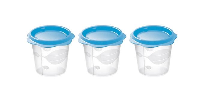 TESCOMA dóza na dětské pokrmy BAMBINI 150 ml, 3 ks, světle modrá
