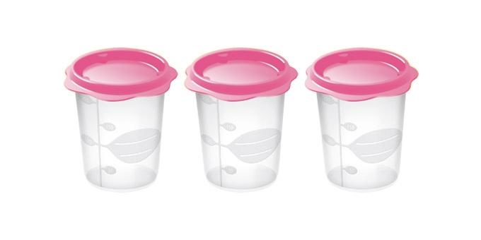 TESCOMA dóza na dětské pokrmy BAMBINI 200 ml, 3 ks, růžová