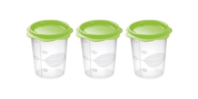 TESCOMA dóza na dětské pokrmy BAMBINI 200 ml, 3 ks, světle zelená