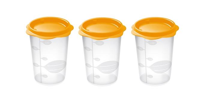 TESCOMA dóza na dětské pokrmy BAMBINI 250 ml, 3 ks, oranžová