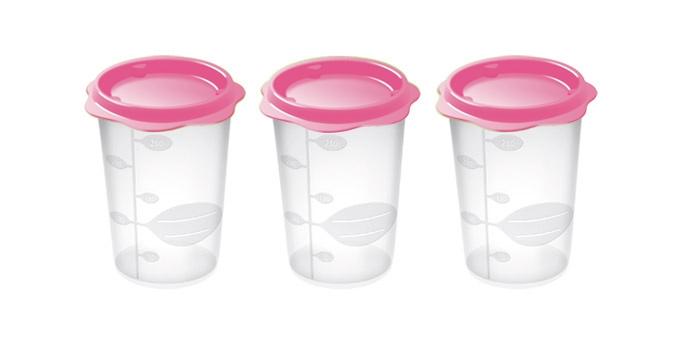TESCOMA dóza na dětské pokrmy BAMBINI 250 ml, 3 ks, růžová