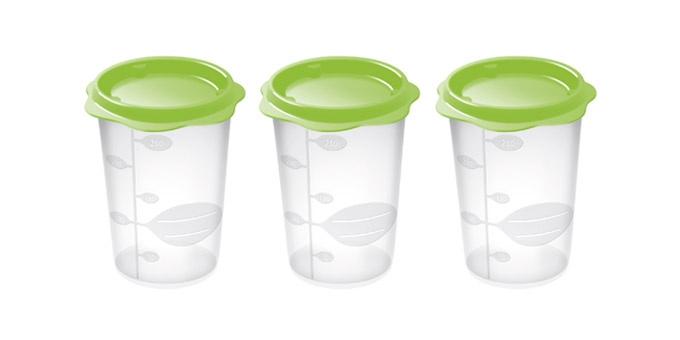 TESCOMA dóza na dětské pokrmy BAMBINI 250 ml, 3 ks, světle zelená