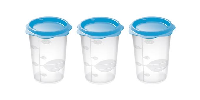 TESCOMA dóza na dětské pokrmy BAMBINI 250 ml, 3 ks, světle modrá