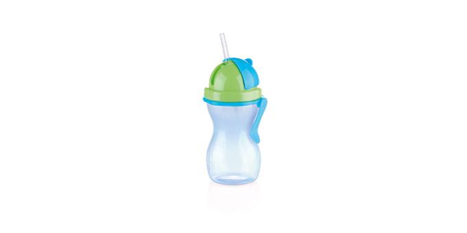 TESCOMA dětská láhev s brčkem BAMBINI 300 ml, zelená, modrá
