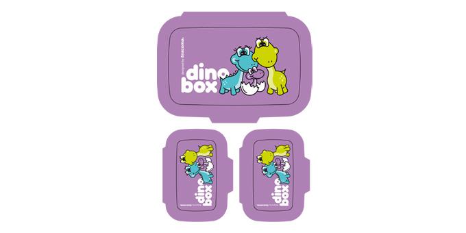 TESCOMA zdravé dózy na svačinu DINO, 3 ks, fialová