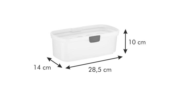 28,5 x 14 x 10 cm Tescoma 705026 PURITY MicroWave Mikrowellen Dampfgarer f/ür Nudeln mit nanoCARE-Technologie