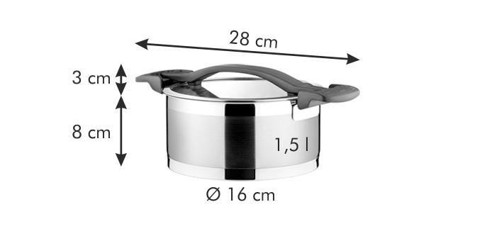 9fc32fec6555e Kastról ULTIMA s pokrievkou ø 16 cm, 1.5 l   Značkový eshop TESCOMA
