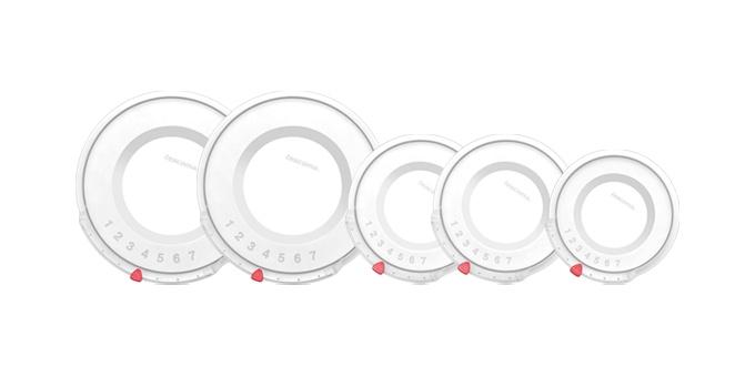 Plastové poklice UNICOVER, 5 ks, pro sady nádobí ULTIMA, PRESIDENT, VISION