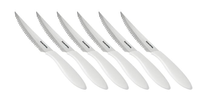 TESCOMA nůž steakový PRESTO 12 cm, 6 ks, bílá