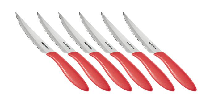 TESCOMA nůž steakový PRESTO 12 cm, 6 ks, červená