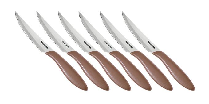 TESCOMA nůž steakový PRESTO 12 cm, 6 ks, hnědá
