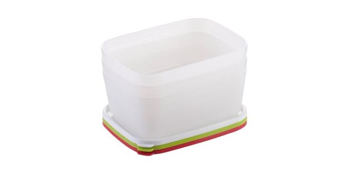 Caixas saudáveis para congelador PURITY 1.0 l, 3 pcs