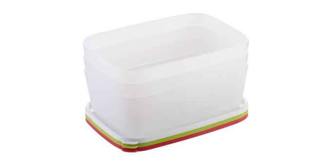 Caixas saudáveis para congelador PURITY 1.5 l, 3 pcs