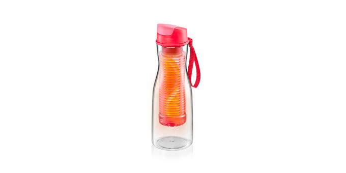 TESCOMA láhev na nápoje s vyluhováním PURITY 0.7 l, červená