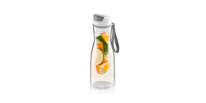 TESCOMA láhev na nápoje s vyluhováním PURITY 0.7 l, šedá