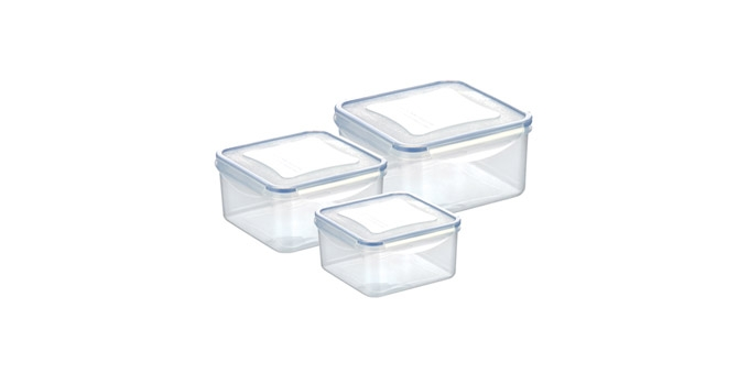 Dóza FRESHBOX 3ks, 0.4, 0.7, 1.2 l, čtvercová