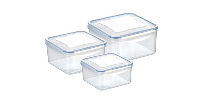 Dóza FRESHBOX 3 ks, 1.2,2.0,3.0 l , štvorcová