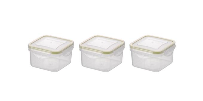 Mini dóza FRESHBOX, 3 ks, čtvercová