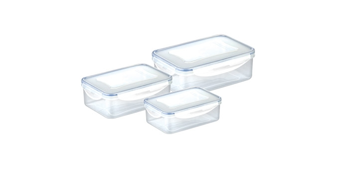 Caixa rectangular FRESHBOX 3 pcs, 0.2, 0.4, 1.0 l