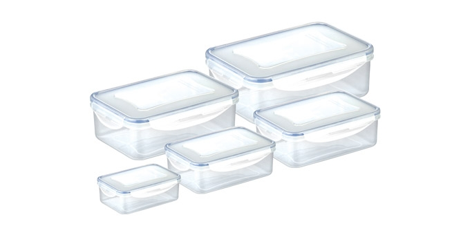 Caixa rectangular FRESHBOX 5 pcs