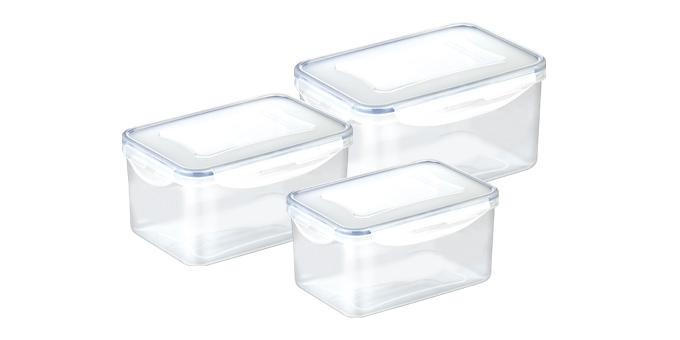Caixa FRESHBOX 3 pcs, 0.9, 1.6, 2.4 l, funda