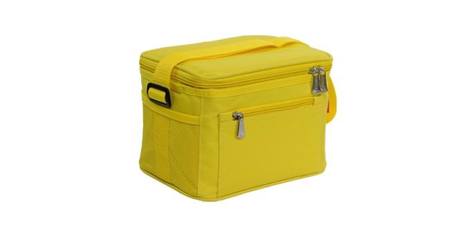 TESCOMA termobrašna s gelovým chladičem COOLBAG, 2 dózy, žlutá