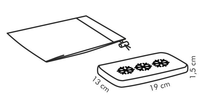 gel k hlkissen coolbag mit schutzbezug tescoma online shop. Black Bedroom Furniture Sets. Home Design Ideas