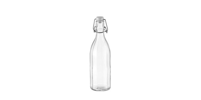 Láhev s klipem hranatá DELLA CASA 500 ml