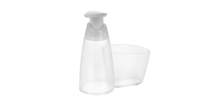 TESCOMA dávkovač saponátu CLEAN KIT 350 ml, s místem pro houbičku, bílá