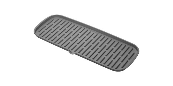 TESCOMA odkapávač silikonový CLEAN KIT 42x17 cm, šedá