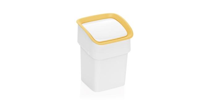 TESCOMA stolní odpadkový koš CLEAN KIT, žlutá