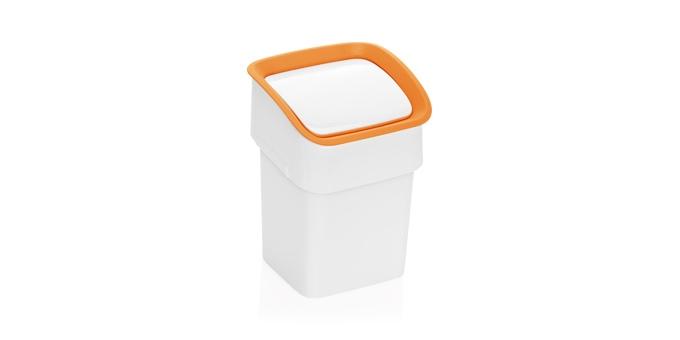 TESCOMA stolní odpadkový koš CLEAN KIT, oranžová