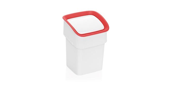 TESCOMA stolní odpadkový koš CLEAN KIT, červená