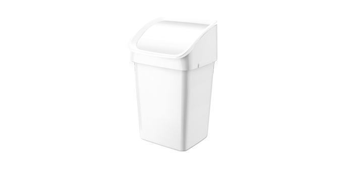 TESCOMA odpadkový koš CLEAN KIT 21 l, se smetáčkem, lopatkou a sáčky, bílá