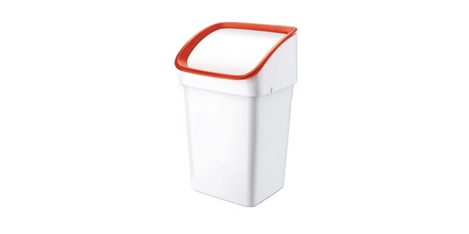 TESCOMA odpadkový koš CLEAN KIT 21 l, se smetáčkem, lopatkou a sáčky, červená