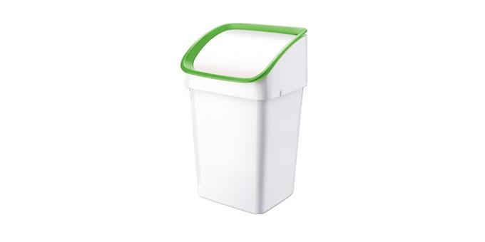 TESCOMA odpadkový koš CLEAN KIT 21 l, se smetáčkem, lopatkou a sáčky, zelená