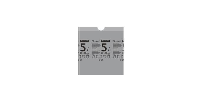 Zaťahovacie vrecká do odpadkových košov CLEAN KIT 5 l, 15 ks