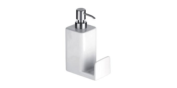 Spülmittelspender ONLINE 350 ml, mit Ablagefläche für Spülschwamm