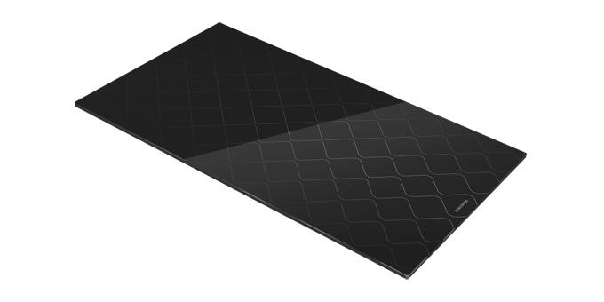 Sklenená odkladacia doska na sporák ONLINE 30 x 52 cm, vlnky