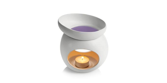 TESCOMA aromalampa pro vonný vosk FANCY HOME Stones, bílá