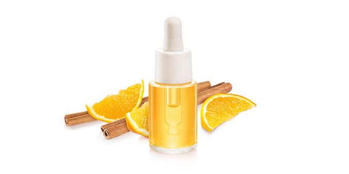 Esenciálny olej FANCY HOME 15 ml, Pomaranč a škorica