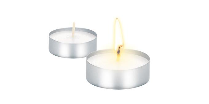 Čajové sviečky FANCY HOME, 10 ks