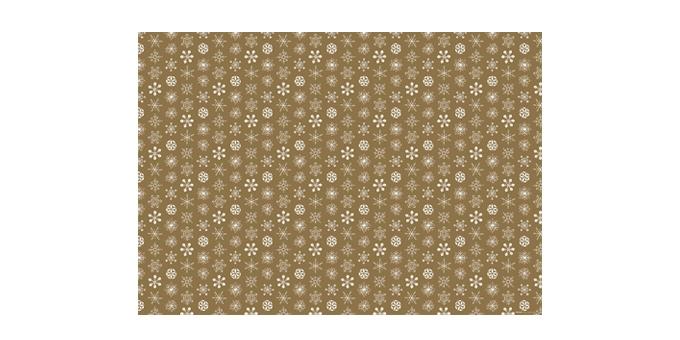 Vánoční balicí papír 70 x 100 cm, 6 ks, zlatý