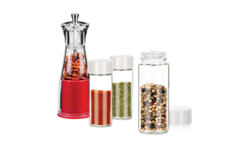 Spice jars and spice grinders