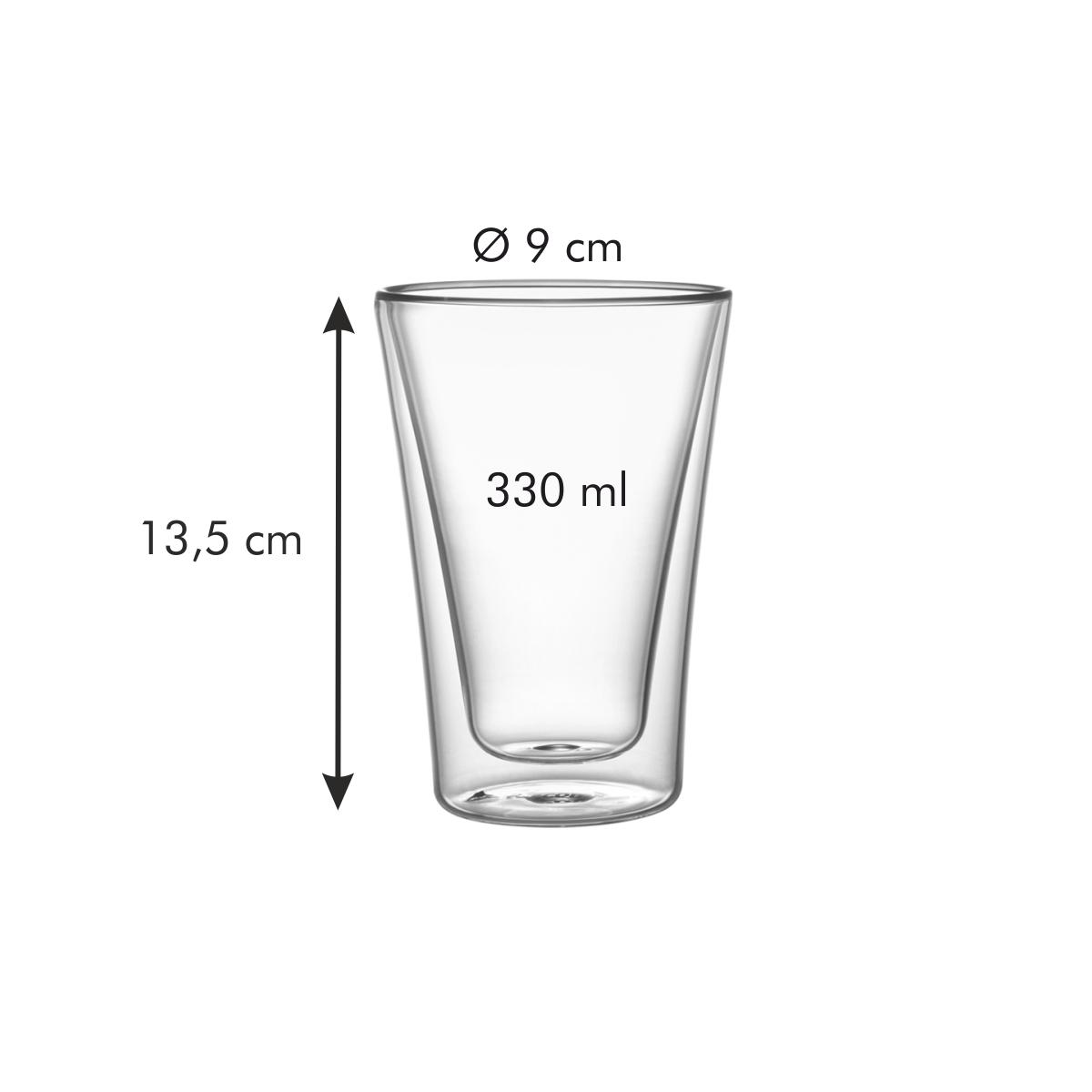 Dvoustěnná sklenice myDRINK 330 ml, 2 ks